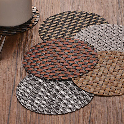 1x Round 11cm PVC Anti-hot Dinnerware Cup Mat Bowl Pad Non-slip Placemat Coaster