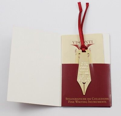 Visconti Limited Edition Pen Nib BOOKMARK 20th Anniversary 2008 Florence