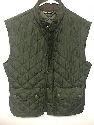 Barbour Mens Lowerdale Quilted Vest Gilet - Dark Green - Size LARGE NWOT's