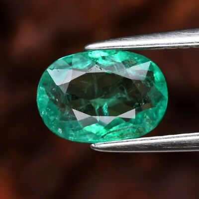 RARE! CERTIFICATE Inc.*1.21ct 8.4x6mm Oval Natural Green Emerald, Ethiopia