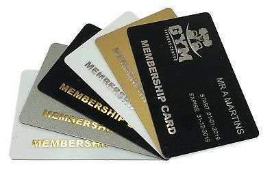 Gold or Silver Foil Blocked Plastic Cards, Business Cards, Membership Cards