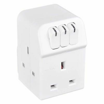 Masterplug MSWG3 Switched Triple Socket Power Adapter