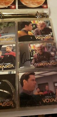 Lot of  book Autographed Trading cards star trek