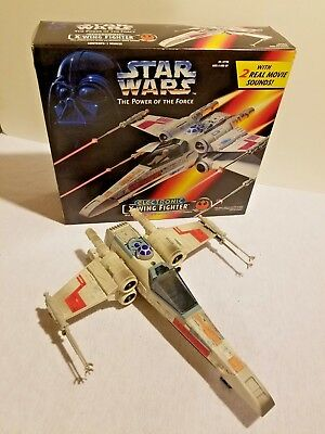Star Wars X-Wing Fighter POTF2 Power of The Force 1995 Kenner Hasbro w/ Red BOX