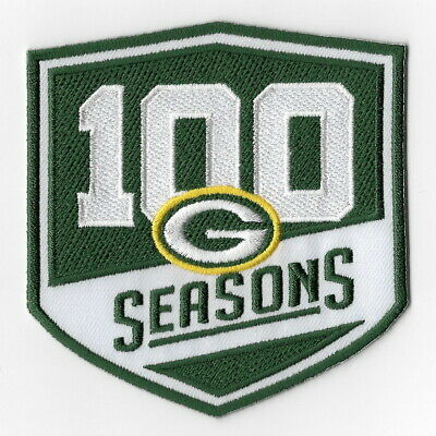 Green Bay Packers 100th Iron on Patches Embroidered Patch Badge Applique Sew FN