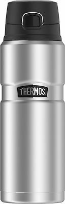 Thermos Stainless King 24 Ounce Drink Bottle, Stainless Steel USED 126bct16