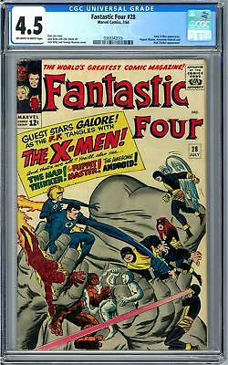 Fantastic Four #28 CGC 4.5 (OW-W) Early X-Men Appearance