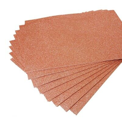 "10 Pc CRAFT FOAM SHEETS 12""x18"" FOFUCHA,FOAMY, GOMA EVA, COSPLAY, FOAM-Rose Gold"