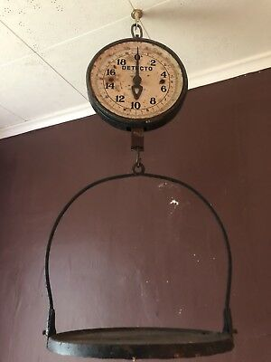 Vintage Detecto Hanging Scale All Original Working And Accurate