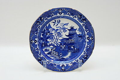 Burgess & Leigh Blue Willow Luncheon Plate Plates 9.5 Inch Burleigh