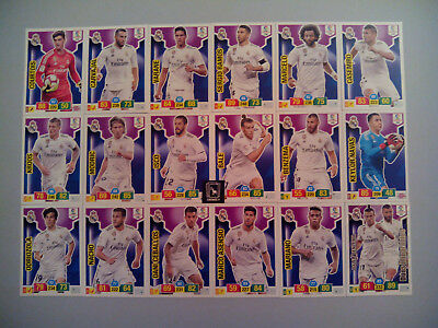 Set Completo Real Madrid Cf 18 Cards Básicas - Adrenalyn Xl Liga 2018 2019