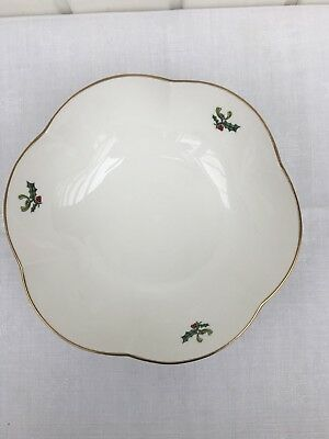 1 Stück - Royal Worcester - HOLLY RIBBONS  - Schüssel - 22 cm - made in England