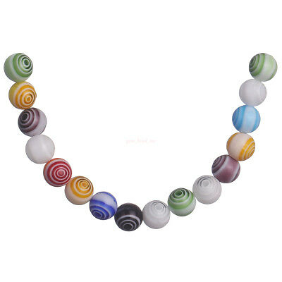 50Pcs Multicolor 6mm Round Glass Flower DIY Spacer Beads Jewelry New Findings C
