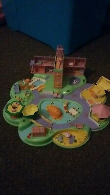 Vintage Polly Pocket Bluebird Pollys Dream World 1991 & figures, car, canoe