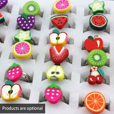 Children soft clay alloy handmade ring NZEc
