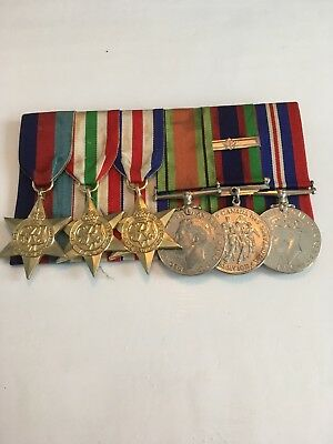 Ww2 Canadian Service Medals Court Mounted
