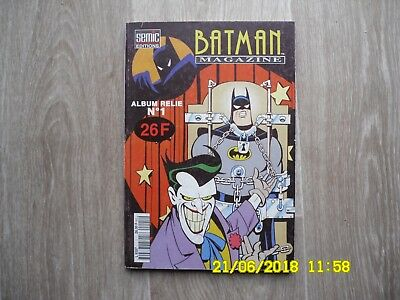 BATMAN Magazine - Album relié n°1 - SEMIC éditions - Octobre 1994