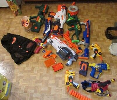 Nerf, super soaker, Buzz Bee Guns Lot