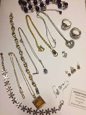 925 Silver jewellery lot Spare, Repair, Wear, Resale Approx 100g