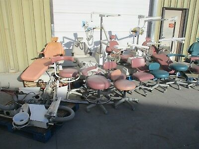Belmont Operatory Lot: 5 Bel-20 Chairs w/ 5 Lights, 5 Deliveries, & 8 Stools