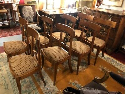 Set of 8 Antique Biedermeier Chairs (authenticated genuine) c1820 RARE!