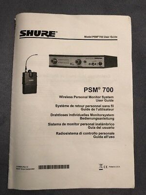 Shure PSM 700 in ear monitoring