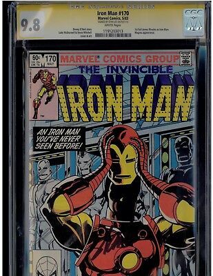 Iron Man #170 CGC 9.8 SS Signed by Stan Lee 1st Full James Rhodes as Iron Man!