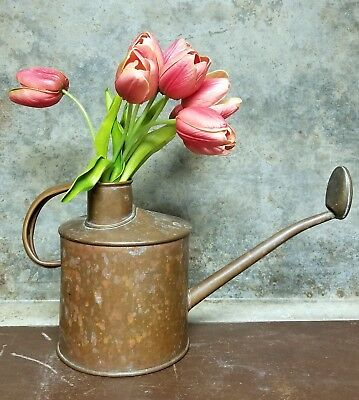 Antique English Copper Watering Can Circa 1930