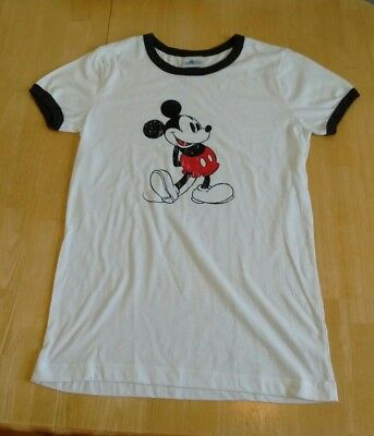 Authentic Vintage Look Disney Mickey Mouse Ringer T-Shirt Ladies Size XXL