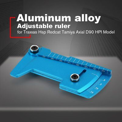 Foldable Alloy Adjustable Ruler Measure RC Car Height Wheel Rim Camber NZ