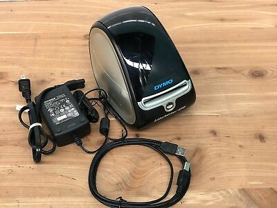 Dymo LabelWriter 450 Model 1750110 W/ Printer Cable & Adapter