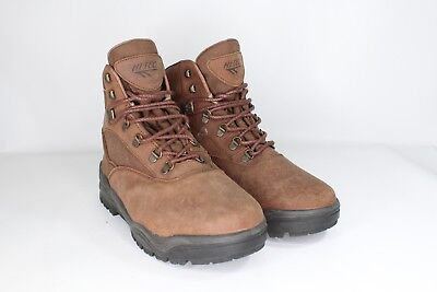 5a68c4c30a6 VTG NEW HI-TEC Mens 10.5 Tacoma Leather Mid Rise Waterproof Hiking Boots  Brown