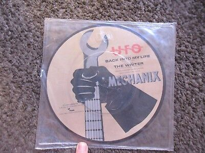 "UFO ""BACK INTO MY LIFE"" b/w ""THE WRITER"" 1982 PICTURE DISC STILL SEALED OOP 7"""