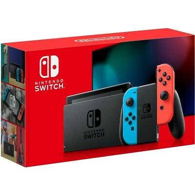 Nintendo Switch - 32GB Gray Console / Neon Joycons Ships Free Nunavut & Anywhere