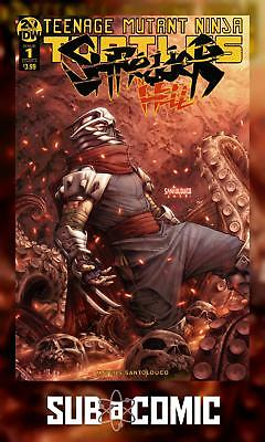 TMNT SHREDDER IN HELL #1 COVER A SANTOLOUCO (IDW 2019 1st Print) COMIC