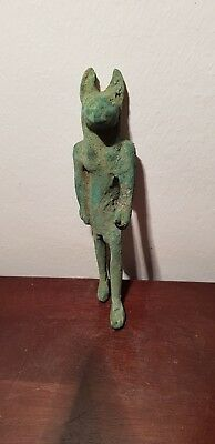 Rare Antique Ancient Egyptian Statue God Anubis Bronze guardian Dead 1650-1570BC