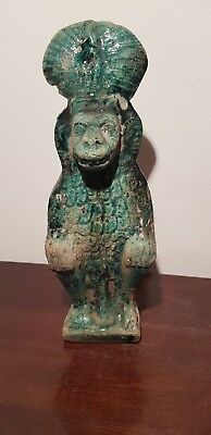 Rare Antique Ancient Egyptian Statue God Bes Evil Fighter protector 1590-1470BC