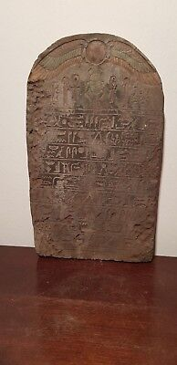 Rare Antique Ancient Egyptian Stela Book of Dead Sacred Paradise 1820-1760BC