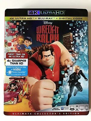 Wreck-It Ralph (4K UHD/Blu-ray) w/ Case and Slipcover **LIKE NEW**
