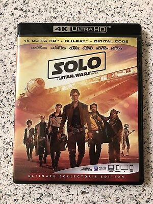 Solo: A Star Wars Story (4K UHD/Blu-ray) w/ Case **LIKE NEW**