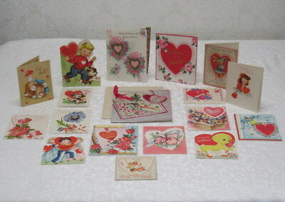Vintage Valentines, Lot of 18 Fold Opens, 1950's