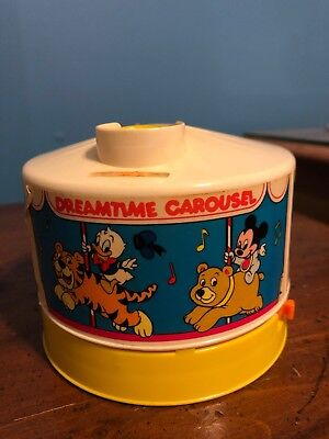 Vintage Disney Dreamtime Carousel Light Sound Projector Mickey Mouse 1988 Music