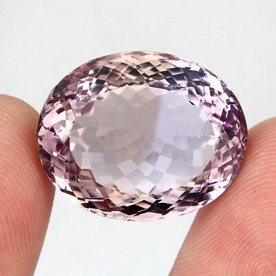 Ametrine Gem! 39.56ct. 24x19mm. Oval Cut 100%natural Top Bi Colors Purple Yellow