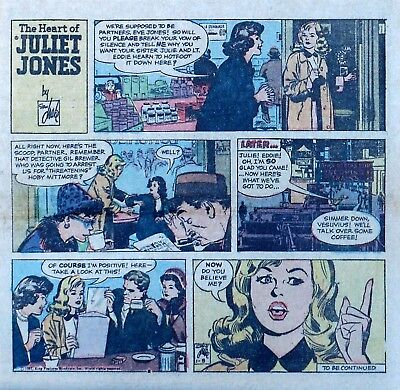 Heart of Juliet Jones by Stan Drake - color Sunday comic page - January 8, 1961