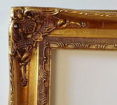 Picture Frame 8x10 Vintage Antique Style Baroque Bronze Gold Ornate w GLASS 7850