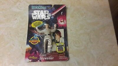 star wars justtoys bend ems lukeskywalker moc 1993 with trading card