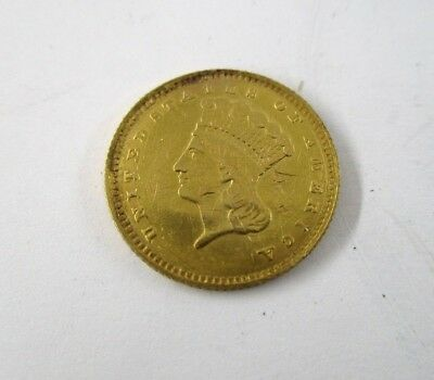 1874 U.S. $1 Dollar Indian Princess Head Gold Coin About Uncirculated