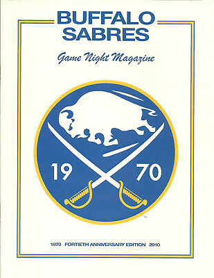 Buffalo Sabres Fortieth Anniversary Edition Game Night Magazine 1970 2010