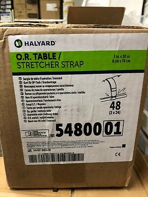 "48x Halyard O R Table Stretcher STRAPS 54800 3"" x 30"" hospital operating room"