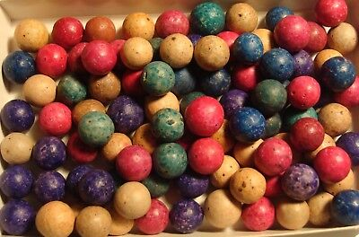 100 Vintage Antique American Dyed Clay Albright Co. Old Toys Victorian 1920s Era